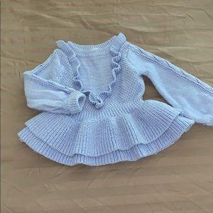 Beautiful Blue 12 month sweater